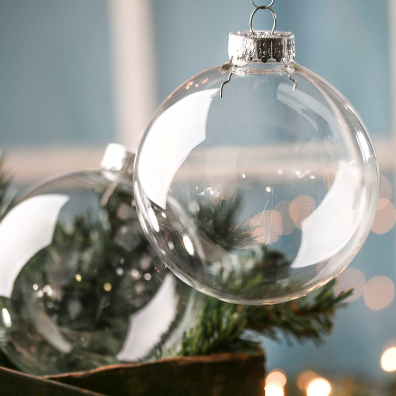 Beautiful ways to fill Glass Baubles