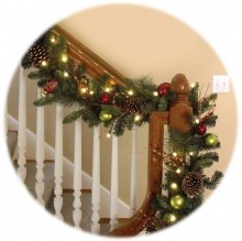 Garland decorated