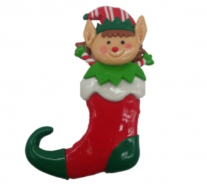 Clay Elf in Sock