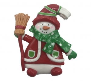 Clay Snowman Broom