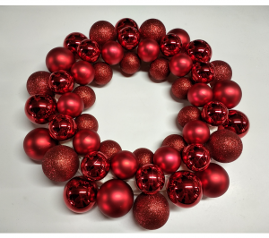 Red Bauble Wreath