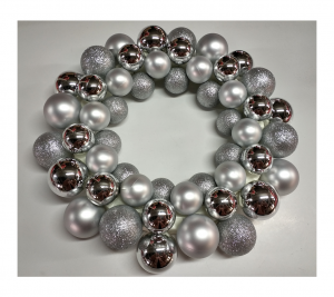 Silver Bauble Wreath