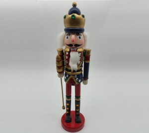 Nutcracker 38cm Red & Blue