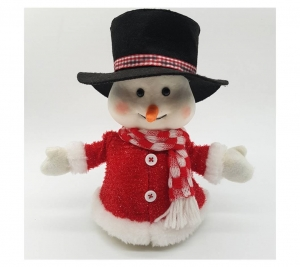 animated snowman black hat 22cm