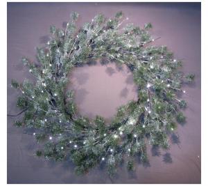 3D Snowy wreath 120cm