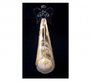 Glass Angel Gold 27cm