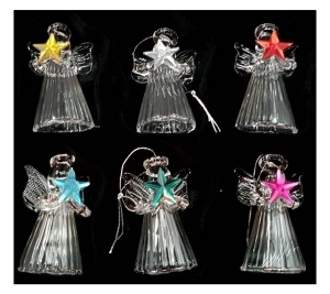 Glass Angel 4cm 6pc
