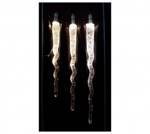 Glass Icicles 13,15,17cm
