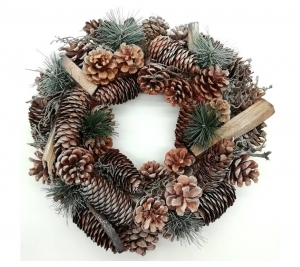 Pine Wreath Brown