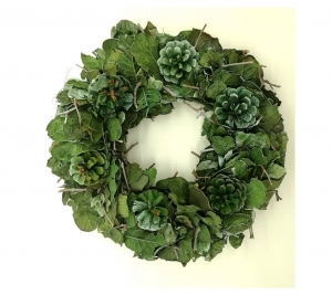 Pine Wreath Green